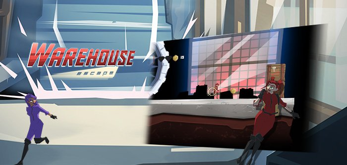 Zoe is in a dead end and must escape Shadow in this Warehouse Escape high in padding