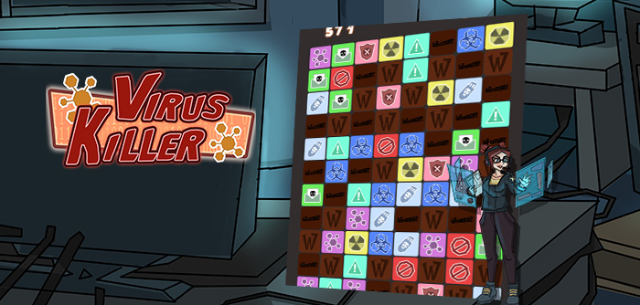 Nelly has to deal with particularly intrusive viruses! Connect the elements together for this exciting puzzle game!