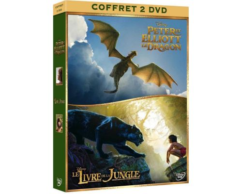 Un Coffret DVD Le Livre de la Jungle + Peter et Elliott le Dragon