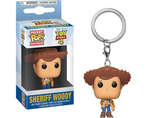 Un Porte Clef Funko Pop Toy Story 4 - Sheriff Woody                                                                                                                        ++
