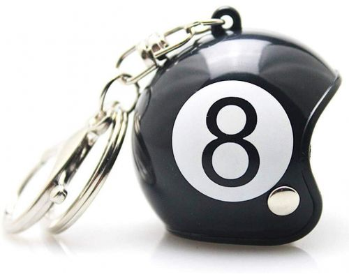 Un Porte Clefs Casque Moto Custom Eight Ball