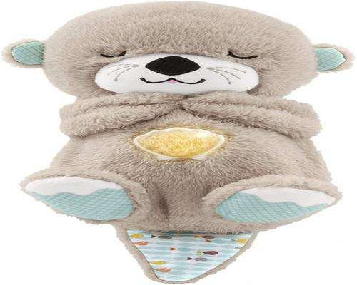 A Fisher-Price My Otter Hugs Good Night Floodlight Night Light Soothing Baby Plush With Heartbeat