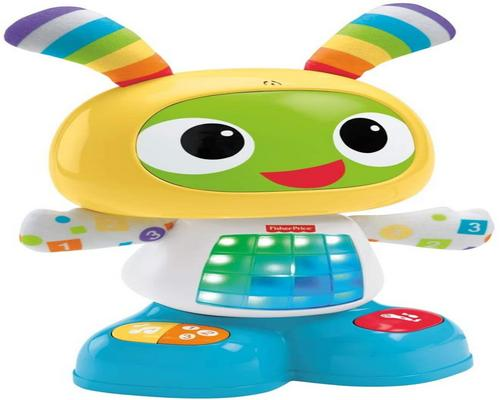 a Fisher-Price Bebo The Interactive Robot Toy with 3 Play Modes
