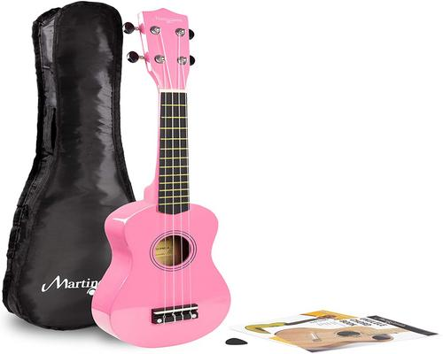 a Martin Smith Ukulele With Pink Bag