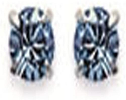 A Pair Of Earrings In Silver 925/000 And Blue Crystal