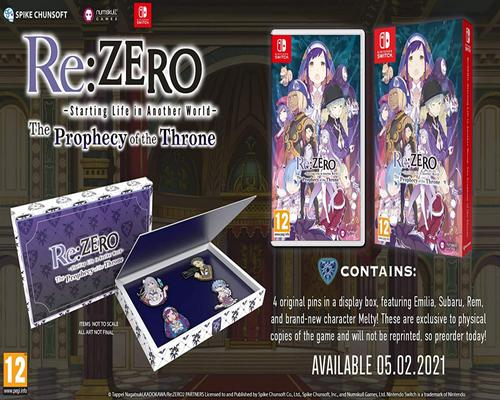 un Jeu Re: Zero - The Prophecy Of The Throne Standard Edition (Switch)