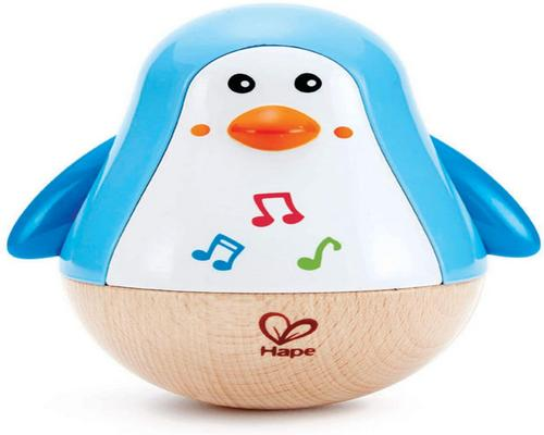Hapelelu - Musical Wooden First Age - Culbuto Penguin