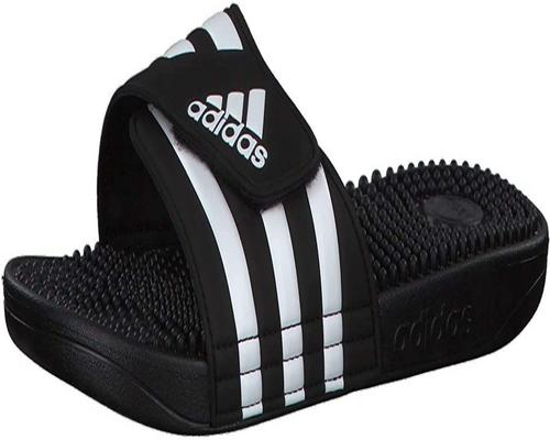 A Pair Of Adidas Adissage Shoes