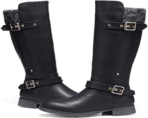 A Pair Of Camfosy High Boots For Women Winter