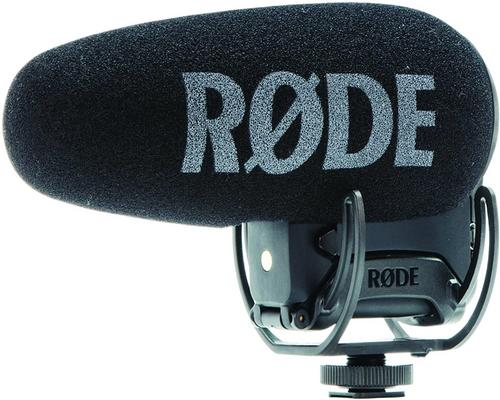 a Rode Videomic Pro + Camcorder Microphone With Black Wire