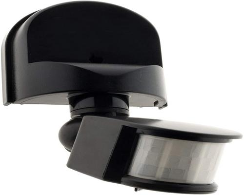 a Black Motion Detector Light