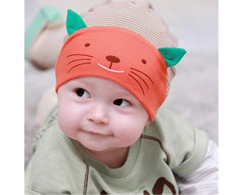 An Orange Baby Cat Hat