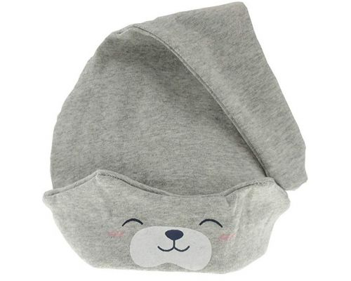 A Baby Gray Bear Hat