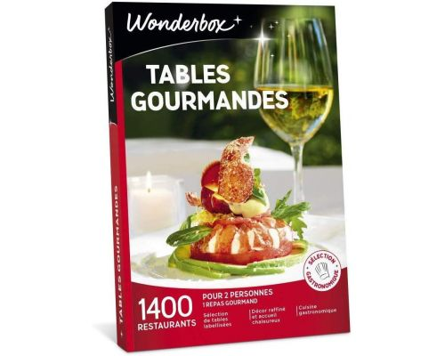 Un Coffret Wonderbox TABLES GOURMANDES