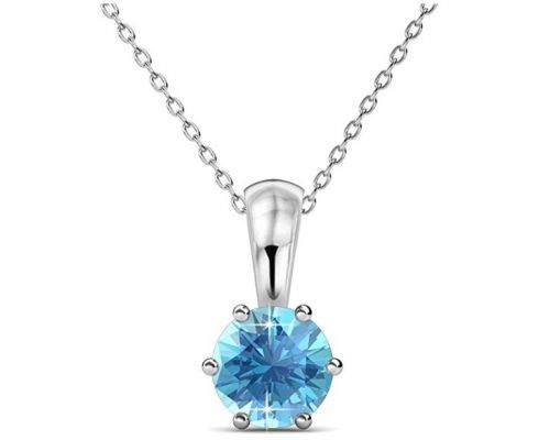 A Necklace with Aquamarine pendant