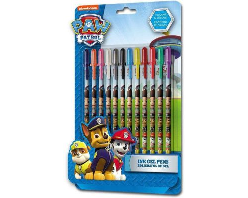 A Pack Of 12 Paw Patrol Gel Pens