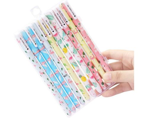 Un Pack de stylos gel Flamingo