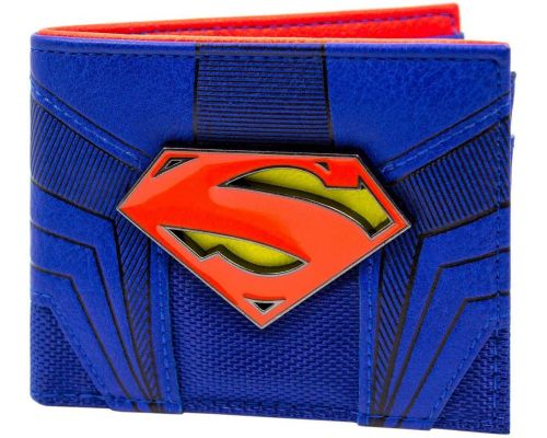 En DC Comics Superman Emblem Blue Wallet