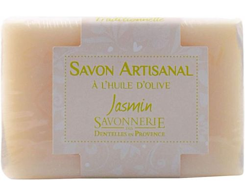 An artisanal natural soap with Jasmine olive oil