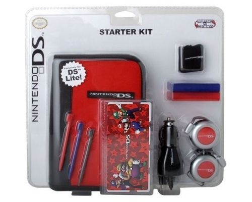 a case and its accessories for Nintendo DS